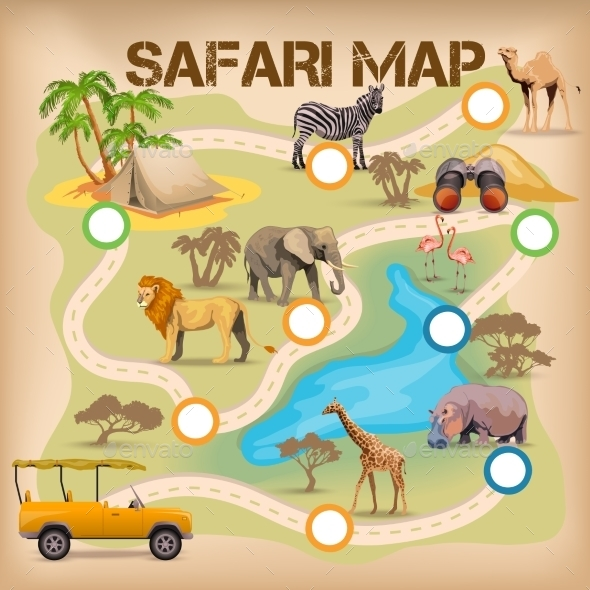 Safari Poster for Game - Backgrounds Decorative