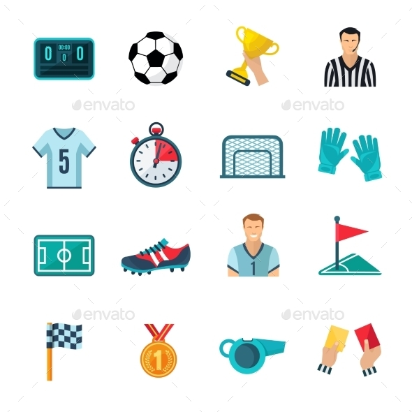 Soccer Icons Set - Objects Icons