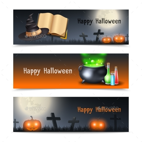 Halloween Banner Set - Halloween Seasons/Holidays