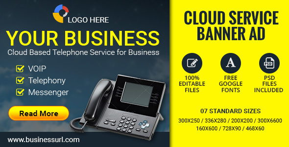 GWD Cloud Service | Business Banner - 7 Sizes - CodeCanyon Item for Sale