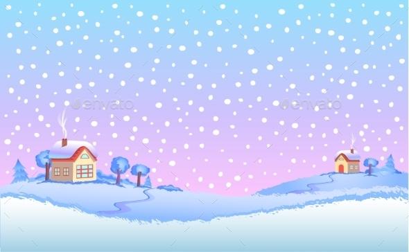 Winter Landscape In Day.  - Landscapes Nature