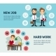 New Job Search And Stress Work Infographic. Office - GraphicRiver Item for Sale