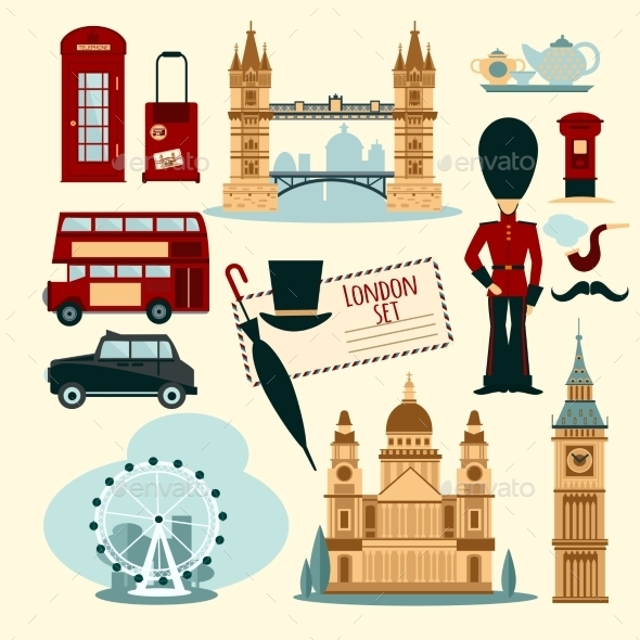 London Touristic Set - Travel Conceptual