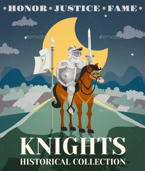 Knight Poster Illustration - Backgrounds Decorative