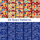 Set of Ten Town Patterns - GraphicRiver Item for Sale