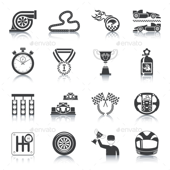 Racing Icons Black - Miscellaneous Icons