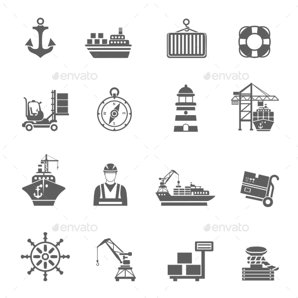 Sea Port Icons - Icons