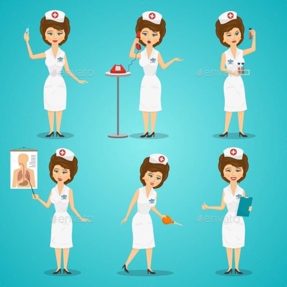 Nurse Character Set - Health/Medicine Conceptual