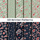 Set of Ten Winter Patterns - GraphicRiver Item for Sale