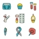 Diabetes Hand Drawn Icons - GraphicRiver Item for Sale