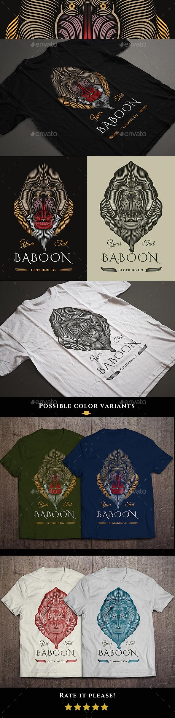 Baboon T-shirt Design - Designs T-Shirts