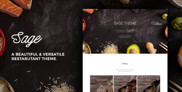 Sage – Restaurant WordPress Theme