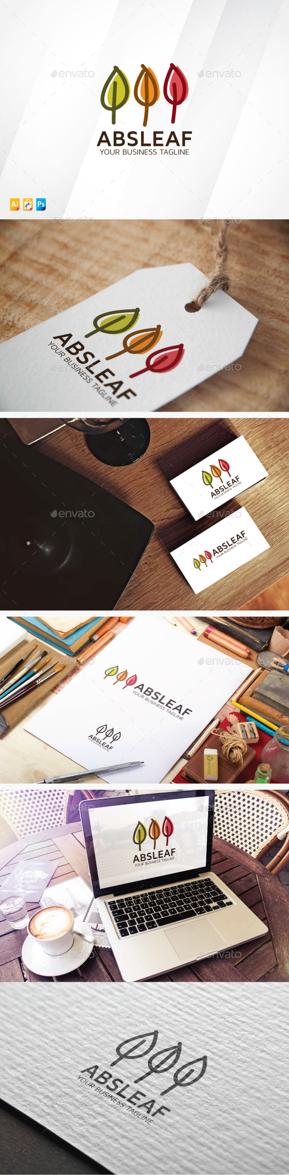 Abstract Leaf - Nature Logo Templates