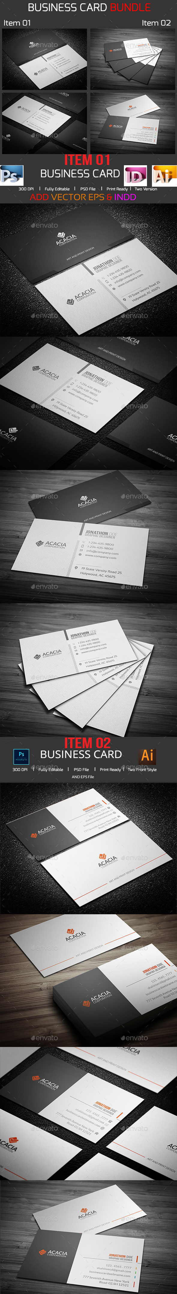 Mega Simple Business Card Bundle - Corporate Business Cards