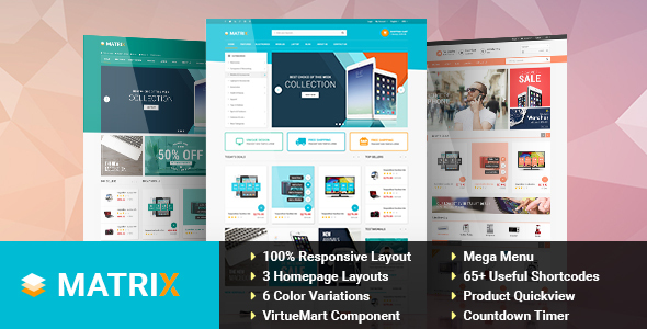 Matrix – Responsive eCommerce Joomla Template