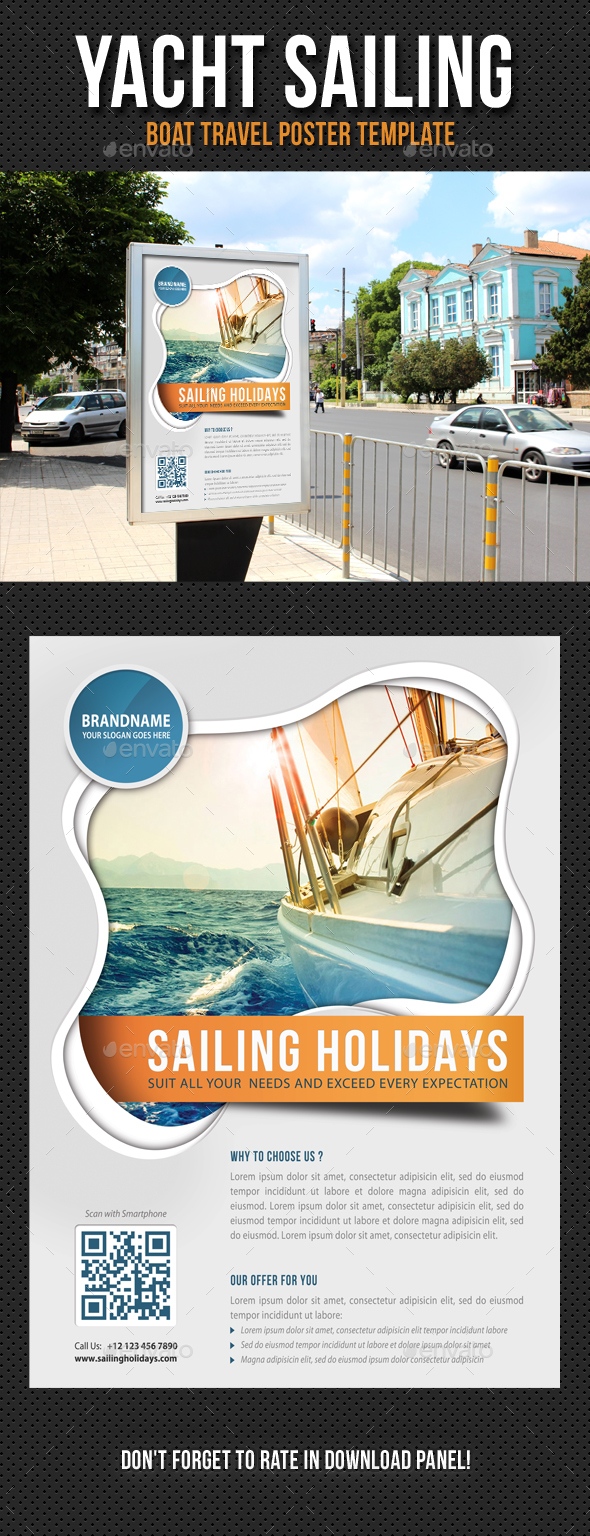 Yacht Sailing Poster Template V06 - Signage Print Templates