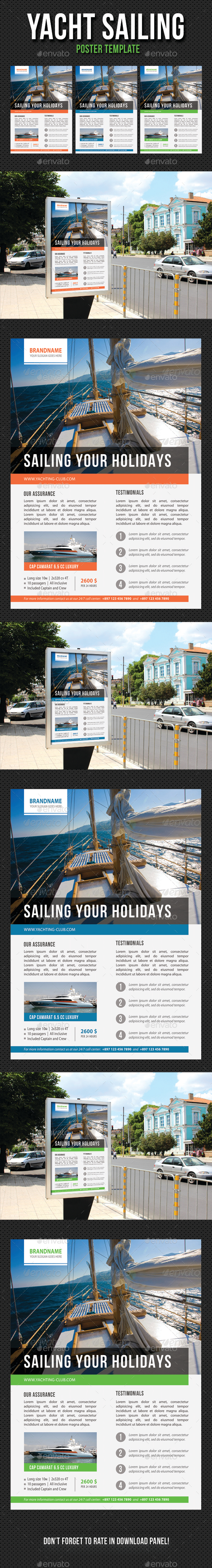 Yacht Sailing Poster Template V07 - Signage Print Templates