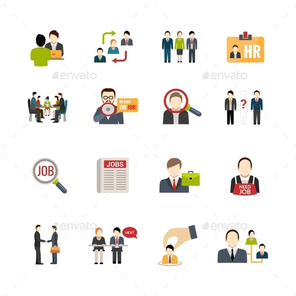Recruitment Icons Set - Business Icons