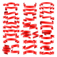 Set of Red Celebration Curved Ribbons Variations - GraphicRiver Item for Sale