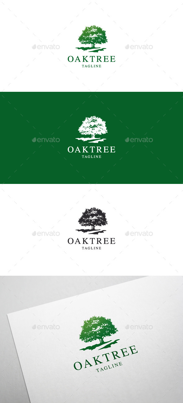 Oak Tree Logo - Nature Logo Templates