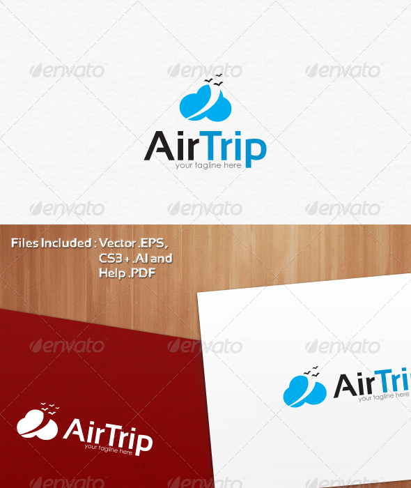 Air Trip Logo Template Design - Vector Abstract