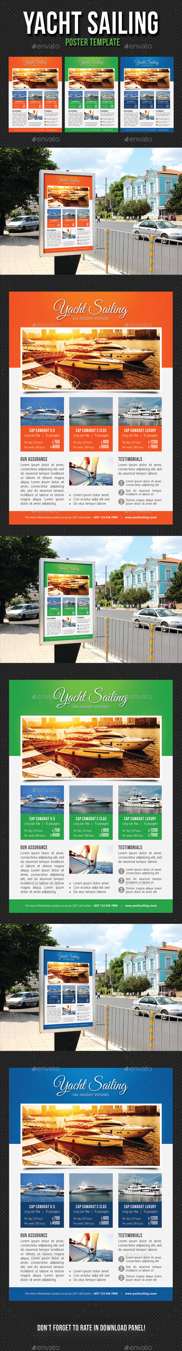 Yacht Sailing Poster Template V08 - Signage Print Templates