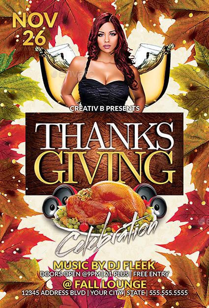 Thanksgiving Flyer Templates Romeondinez