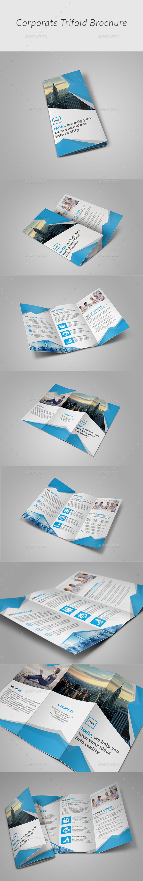 Corporate Trifold Brochure - Corporate Brochures