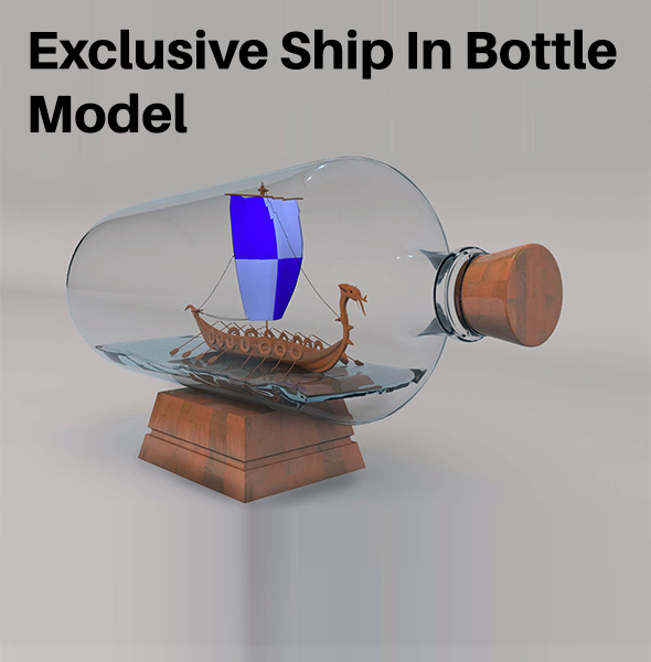 Ship In Bottle Model - 3DOcean Item for Sale