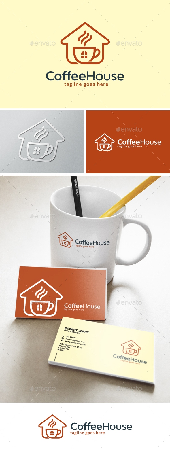 Coffee House Logo - Food Logo Templates