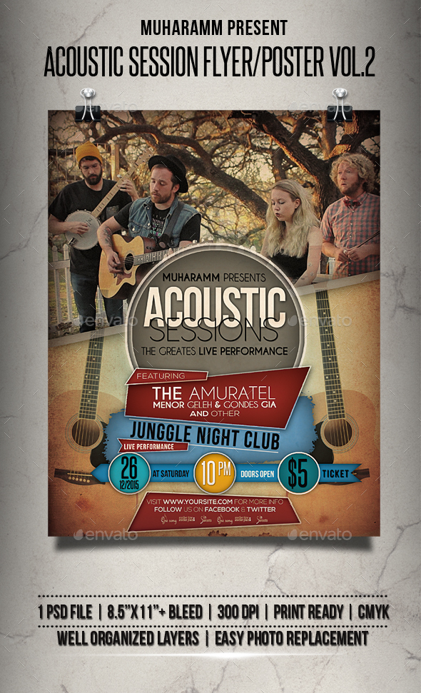 Acoustic Session Flyer / Poster Vol.2 - Events Flyers