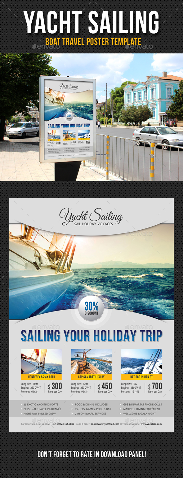 Yacht Sailing Poster Template V12 - Signage Print Templates