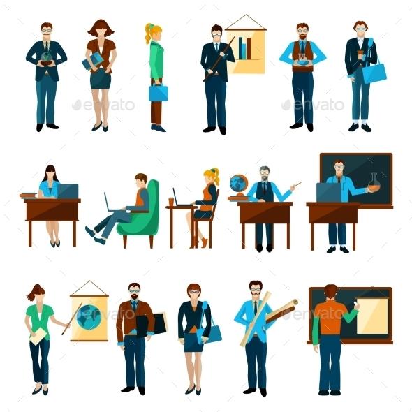 University People Set - People Characters