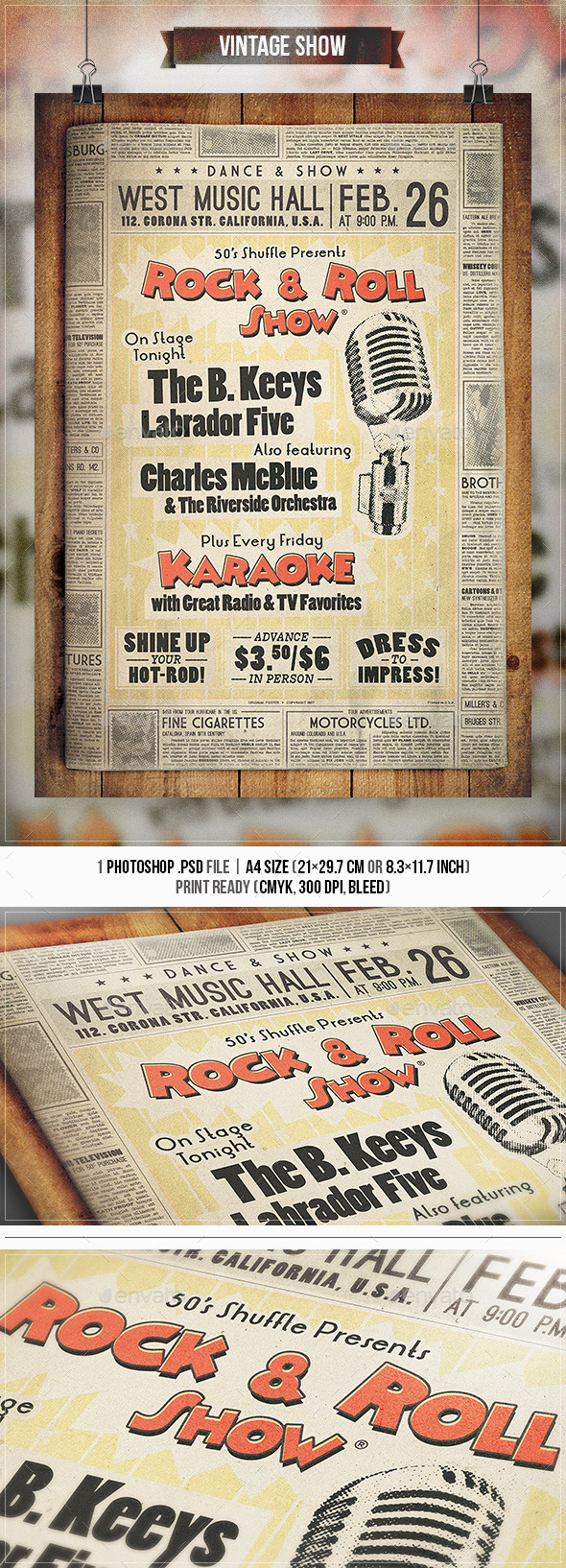 Vintage Show - Flyer & Poster - Concerts Events