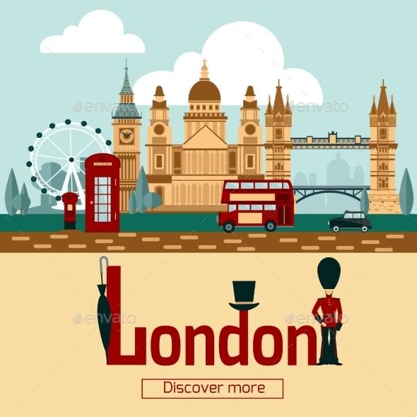 London Touristic Poster - Travel Conceptual