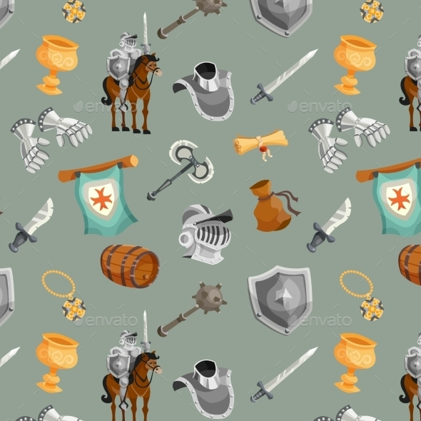 Knight Seamless Pattern - Backgrounds Decorative