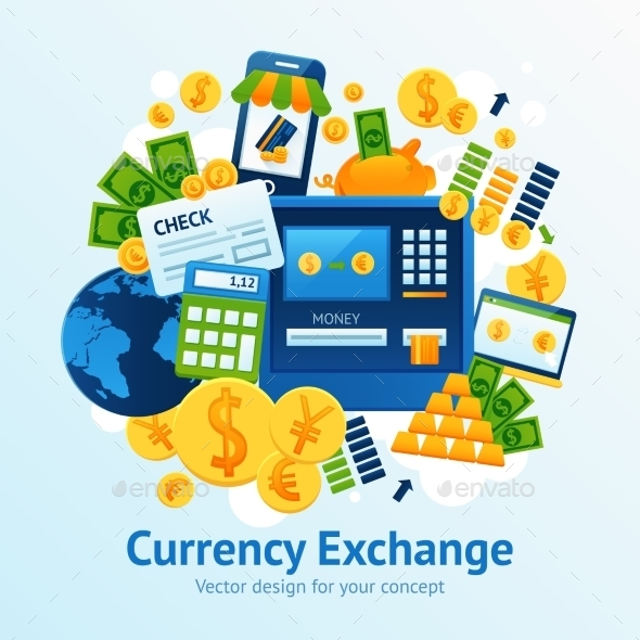 Currency Exchange Illustration - Concepts Business