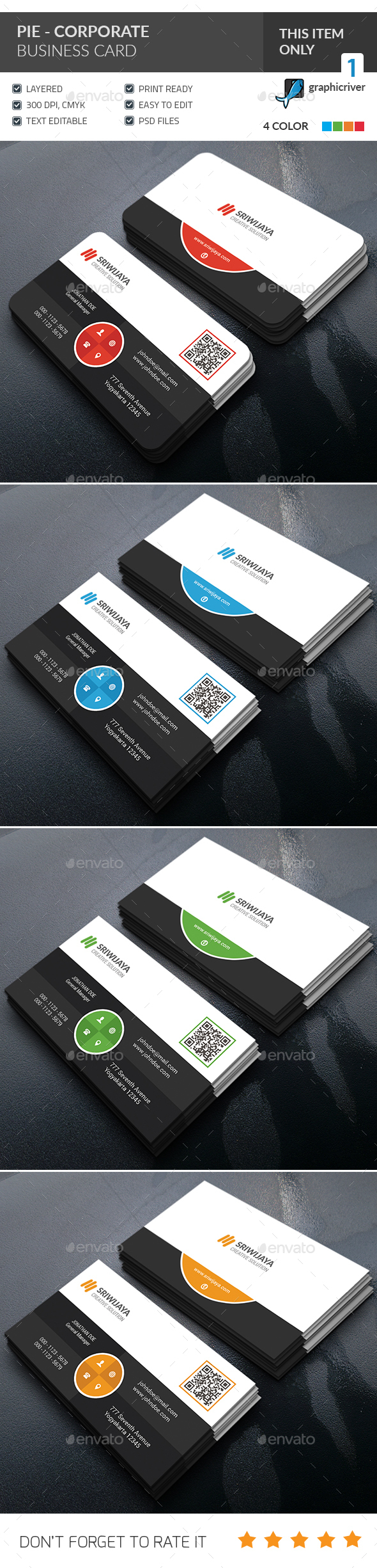 Pie Corporate Business Card - Corporate Business Cards