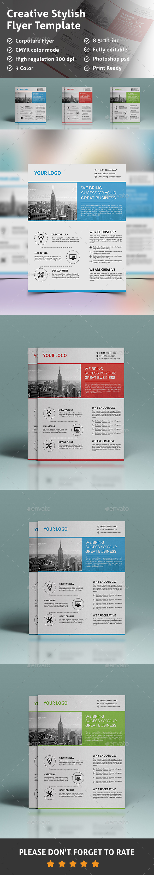 Creative Stylish Flyer Template  - Corporate Flyers