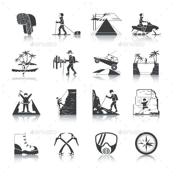 Expedition Icons Black Set - Miscellaneous Icons