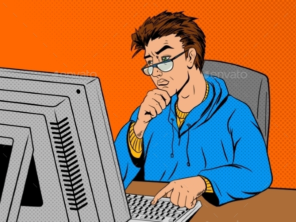 Coder Programmer at Work - Computers Technology