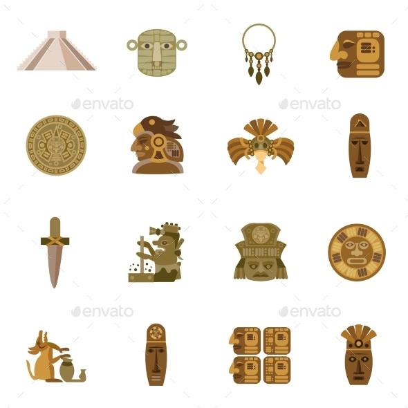 Flat Icon Maya - Icons