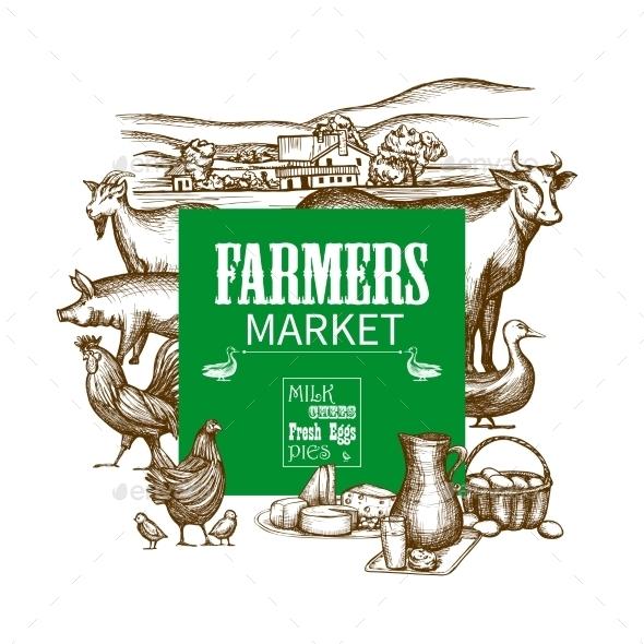 Farm Market Frame - Food Objects