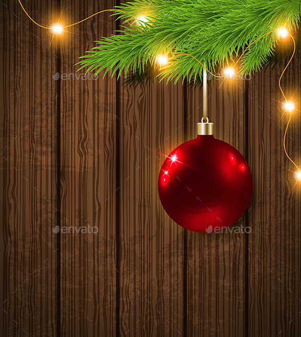 Red Decoration and Garland - Christmas Seasons/Holidays