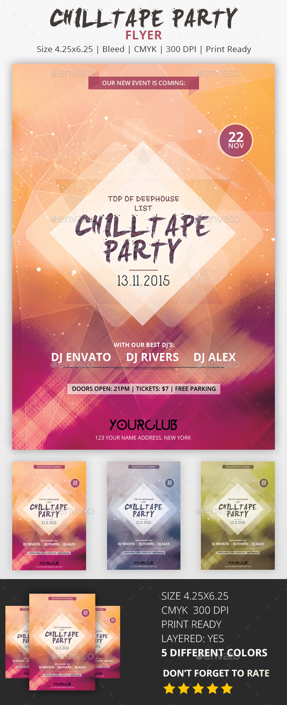 Chilltape Party - PSD Flyer - Events Flyers