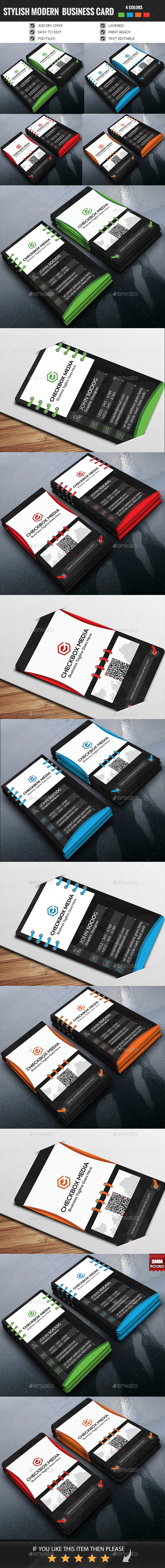 Stylish Modern Business Card Vertical Version-02 - Business Cards Print Templates