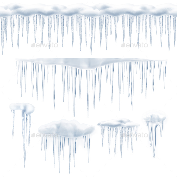 Icicles Vector Icons - Vectors