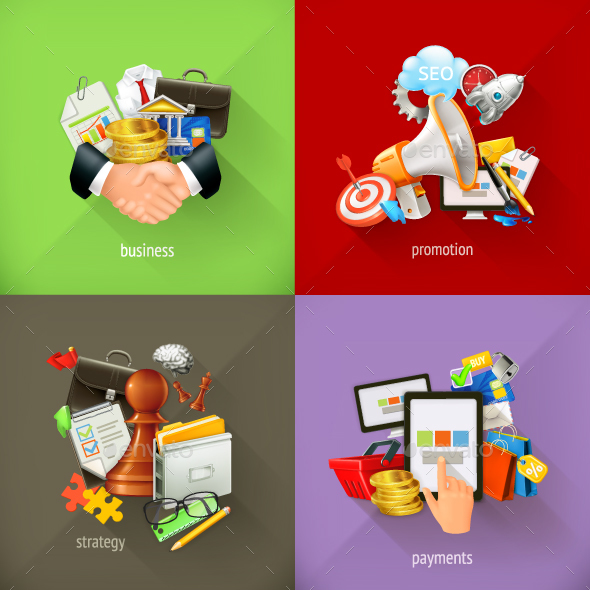Business Concepts Icons - Concepts Business