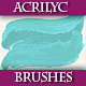 Set of Artistic Acrilyc Vector Brushes for Design. - GraphicRiver Item for Sale