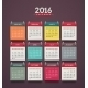 Calendar 2016 - GraphicRiver Item for Sale